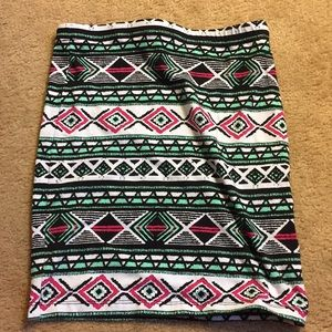 Tribal Pattern Pencil Skirt